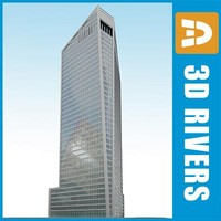office skyscraper granite 3d max