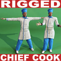 Chef Cook (Rigged)
