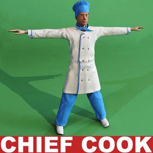 chef cook 3d model