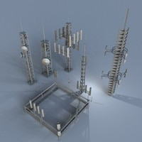 communications antenas 1 3d model