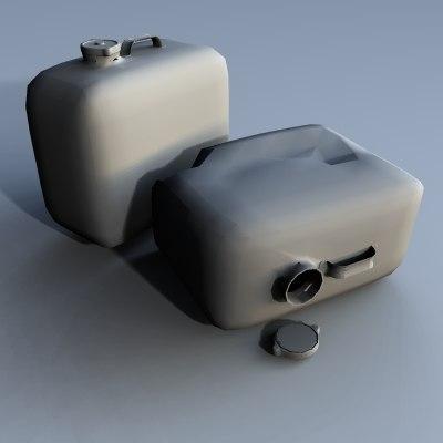gas cans 3d model
