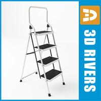 3dsmax stepladder steps ladder 01