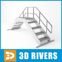 ladder steps rigid 3d 3ds
