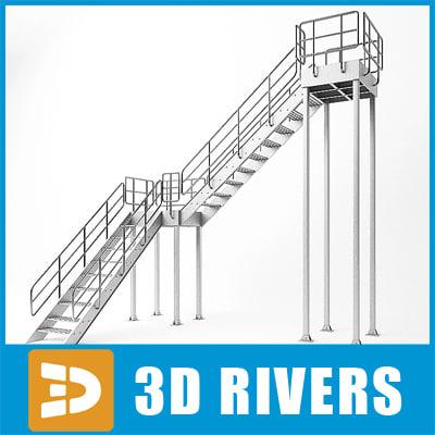 3d max ladder steps rigid