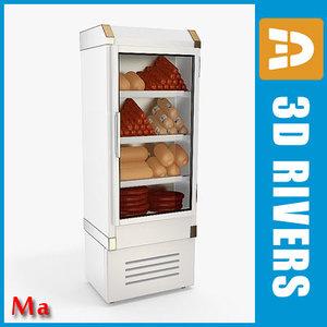 3d refrigerating sausages freezer v1