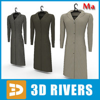 3ds max ladies coats set clothes rack