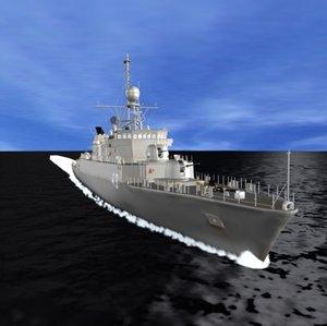 3d argentine navy corvette meko