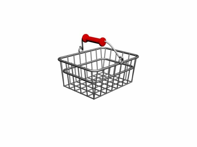 3ds max shop basket market