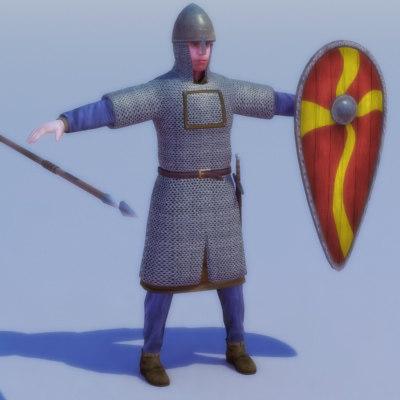 3d model norman knight games