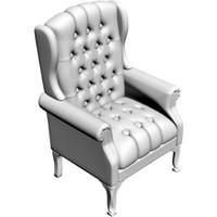 3d classic armchair model