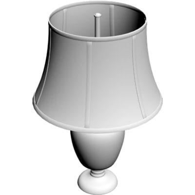 3d model of bedside lamp