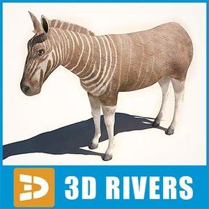 3d model quagga extinct animals