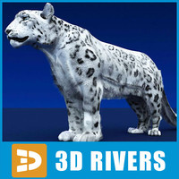 3ds max snow leopard cat