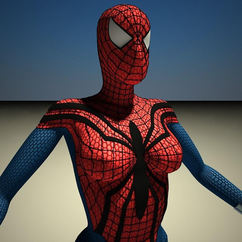 spider-woman movie spider-man 3d model