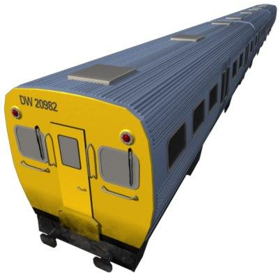 electric train 3d model