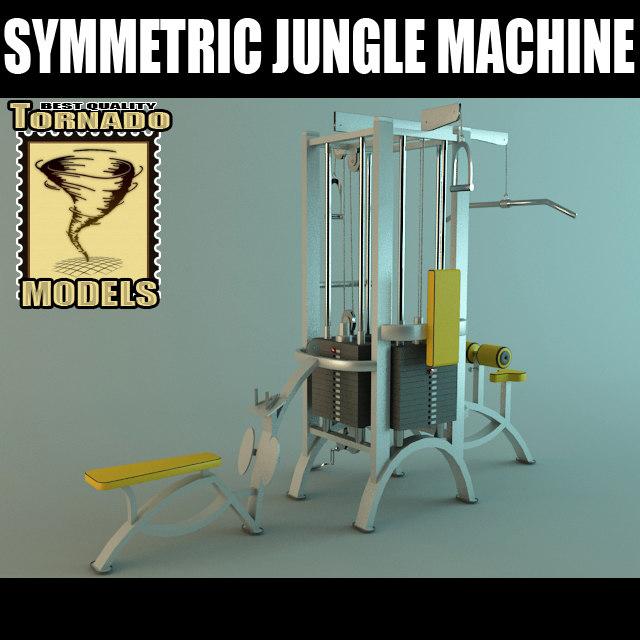 3d model symetric jungle machine