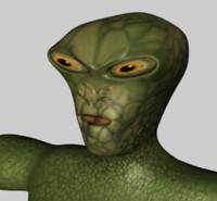 monster alien 3d c4d