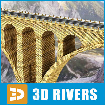 3d model arch highway bridge