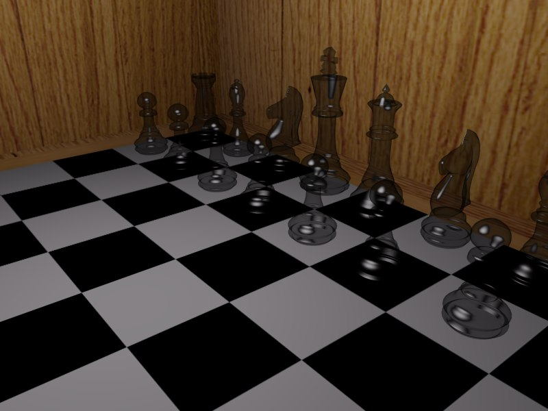 complete chess board 3d model