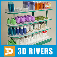 3ds max trading display shelf