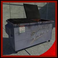 dumpster dump 3d 3ds