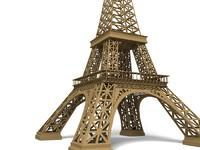 3d eiffel tower model