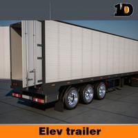 semi truck trailer 3d model