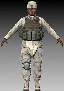 u s soldier 3d model