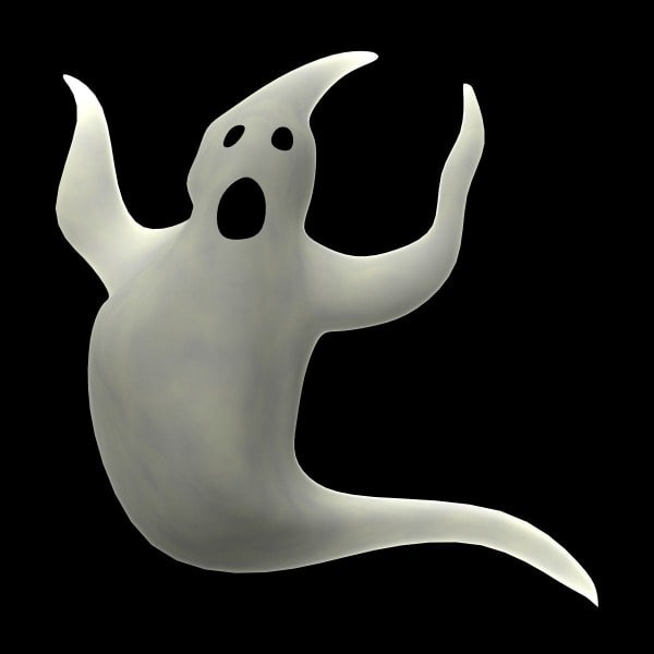ghost cartoon 3d model