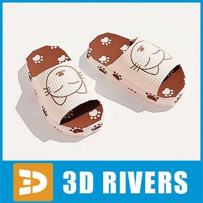 3dsmax house slippers
