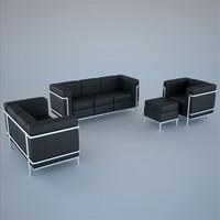 3d armchair lc2 le corbusier
