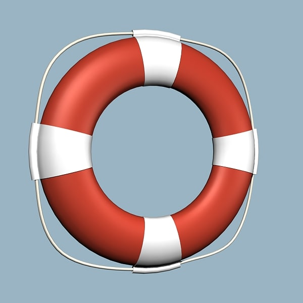 3d model ship life buoy