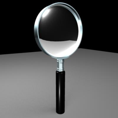 free magnifying glass 3d model