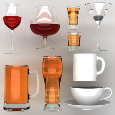 cuppack cups 3d model