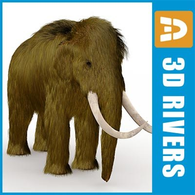 extinct mammoth elephant 3d model