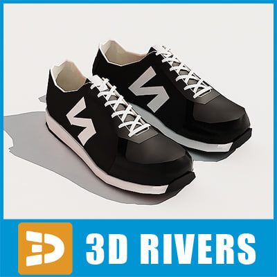 jogging shoes sneakers 3d max