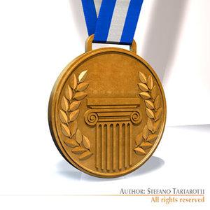 medal 3d model