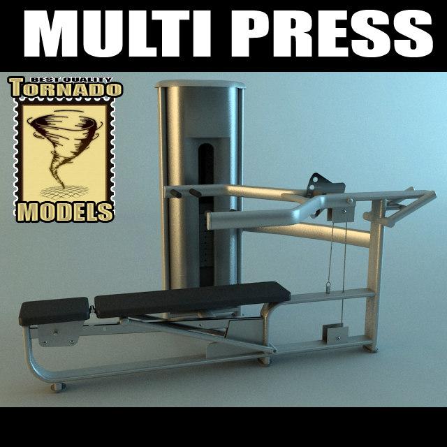 multi press machine 3d max