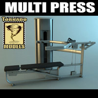 multi press machine 3d max
