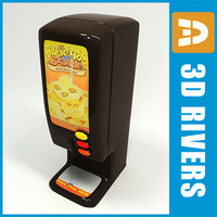 nacho vending machine 3d model