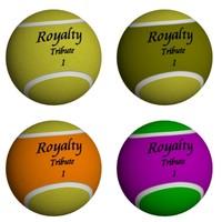 4 Low Polygon Tennis Balls