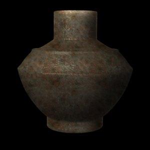 obj prehistoric vase