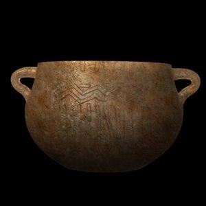 3d prehistoric vase