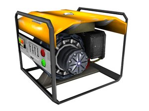 3d portable power generator model