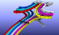 3d slide water park