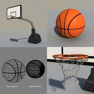 obj basket basketball ball