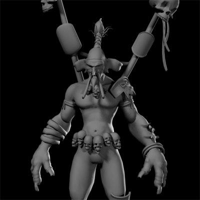 shadow hunter 3d model