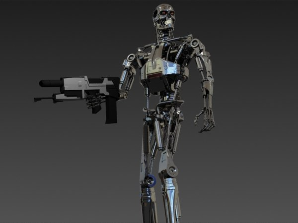 terminator cyborg machine 3d model