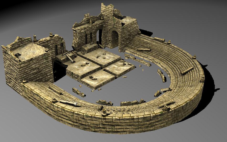 ancient theatre 3d model
