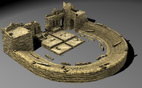 ancient theatre 3d model